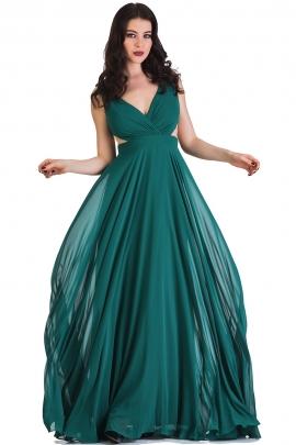 Rochie verde voal
