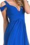 Rochie Forever Unique albastra cu trena